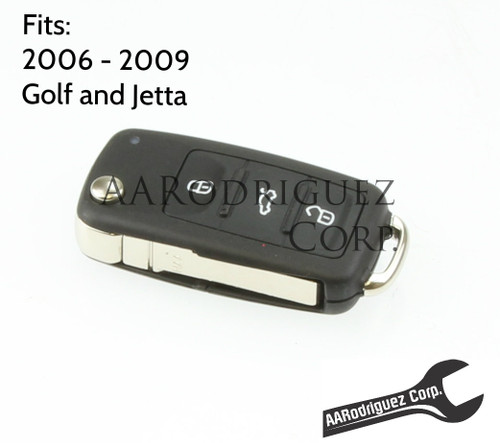 MK5 Key FOB - Genuine VW - 5K0-837-202-R - Golf/Jetta/New Beetle (5K0837202R) 1K0959753H, 1K0959753P, HLO-1K0-959-753-P  FCC ID: NBG92596263