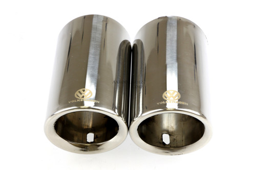 MK7 Golf/Jetta - Silver 304 Stainless Steel Tips -1