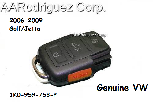 MK5 Key - Remote Half Only - Genuine VW - 1K0-959-753-P (1K0-959-753-P-9B9)