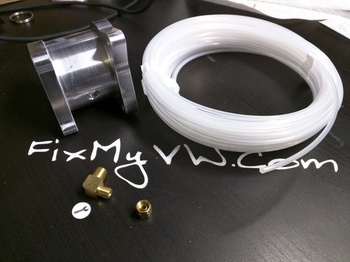 Boost Gauge Hose Kit - Simple Install! with 90 degree brass fitting (Gauge Kit with 90) - 4
