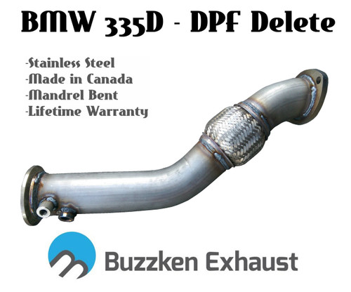"BMW 335D DPF Delete Kit - 3"" (Buzz-335D)"