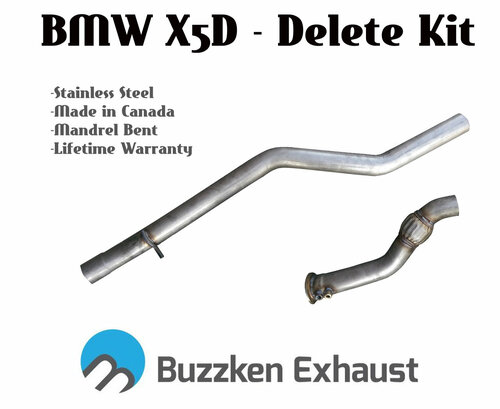 "BMW X5D DPF and SCR cat delete - 3"" (Buzz-DP-X5D)"