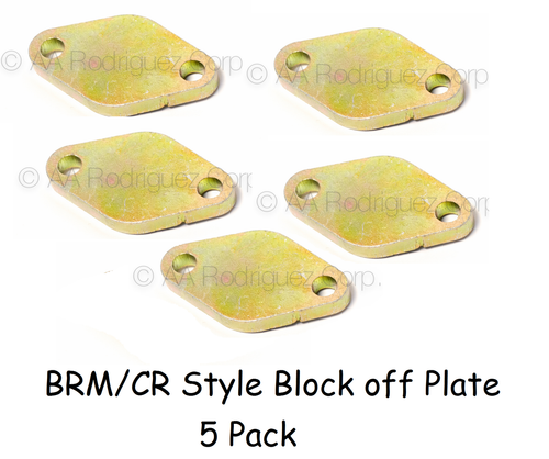 Mechanic's Supplies - BRM/CR Style Block off Plates - 5ct (BRM-egr-blk-5ct)