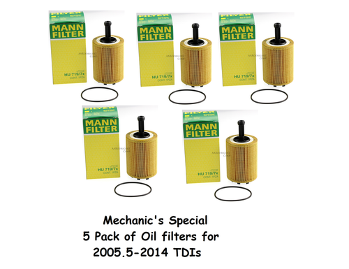 Mechanic's Special - 5 pack of Oil Filters - BRM CBEA CJAA (5x - 071115562C)