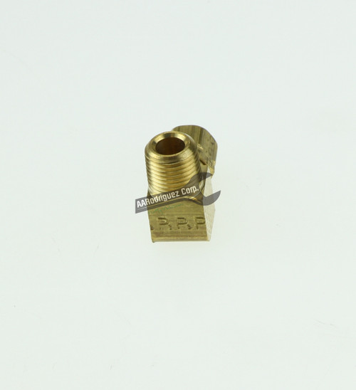 "Easy-Align Brass Compression Tube Fitting, 90 Degree Elbow for 1/8"" Tube OD X 1/8 Male Pipe-2"