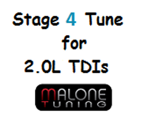 Malone CR TDI - Stage 4 Tune - Golf/Jetta/New Beetle/Passat (Malone-2.0L-Stage4)