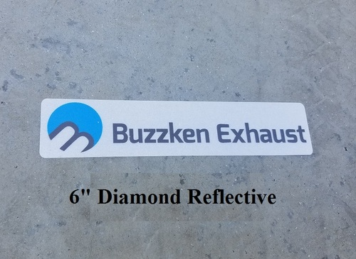BuzzKen Vinyl  Euro plate Sticker - 6 Inches Long (AAR1988)