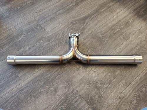304 Stainless Steel Muffler Delete Kit for X5 DIESEL - E70 and F15 -2
