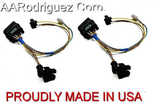 Upgraded Headlight Wiring Harness | VW MK4 Golf | 1 Pack on vw headlight relay, vw headlight plug, vw fuel pump diagram, vw headlight turn signals, vw headlight assembly, vw steering column diagram, vw headlight switch, vw alternator diagram, 1968 volkswagen headlight switch diagram, vw fuse box diagram,