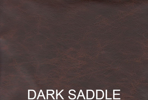 Distressed auto upholstery leather-  Dark Saddle