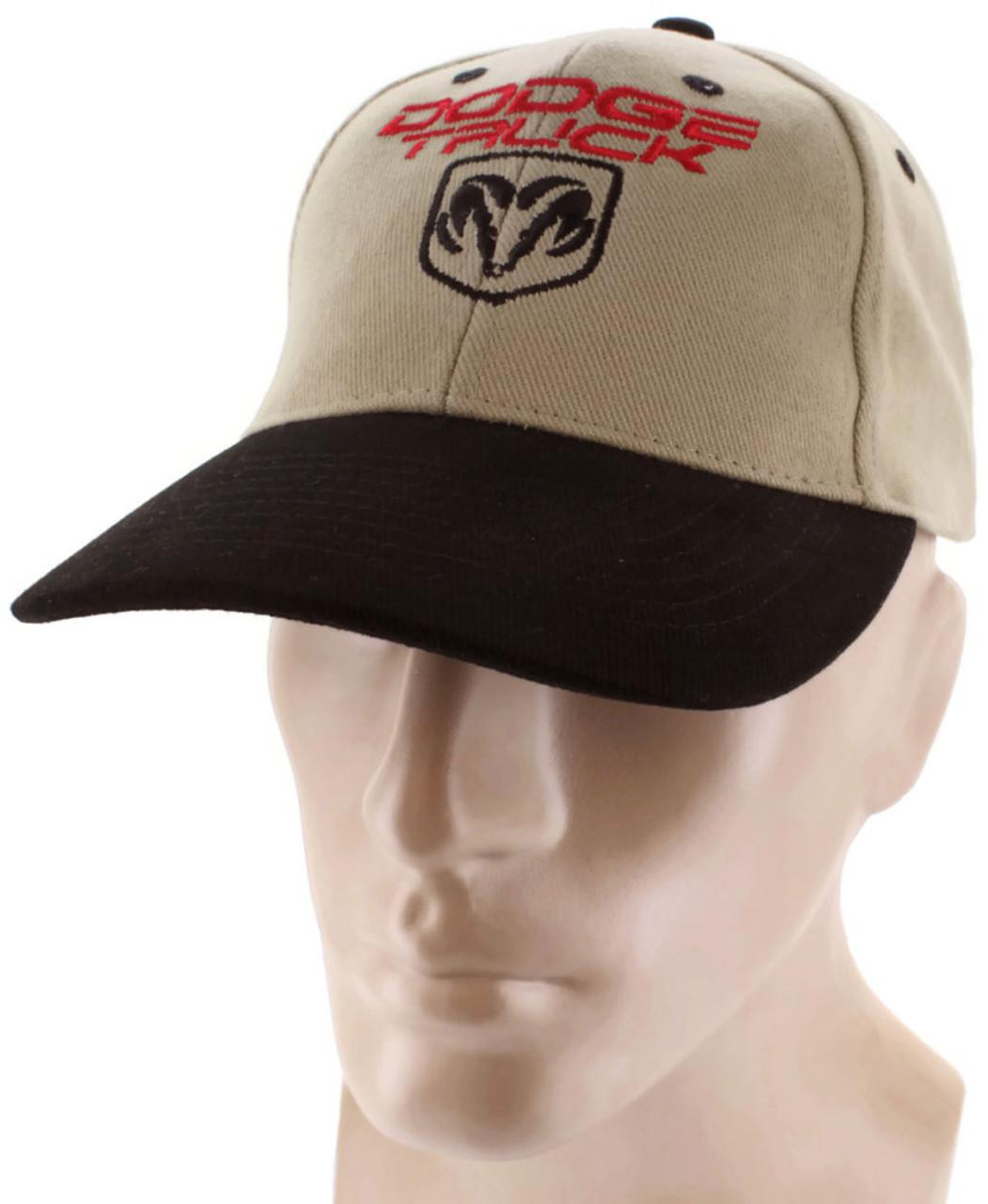 Dodge Truck Black Khaki Baseball Cap Trucker Hat Snapback Ram 1500 ... 768769f9d72
