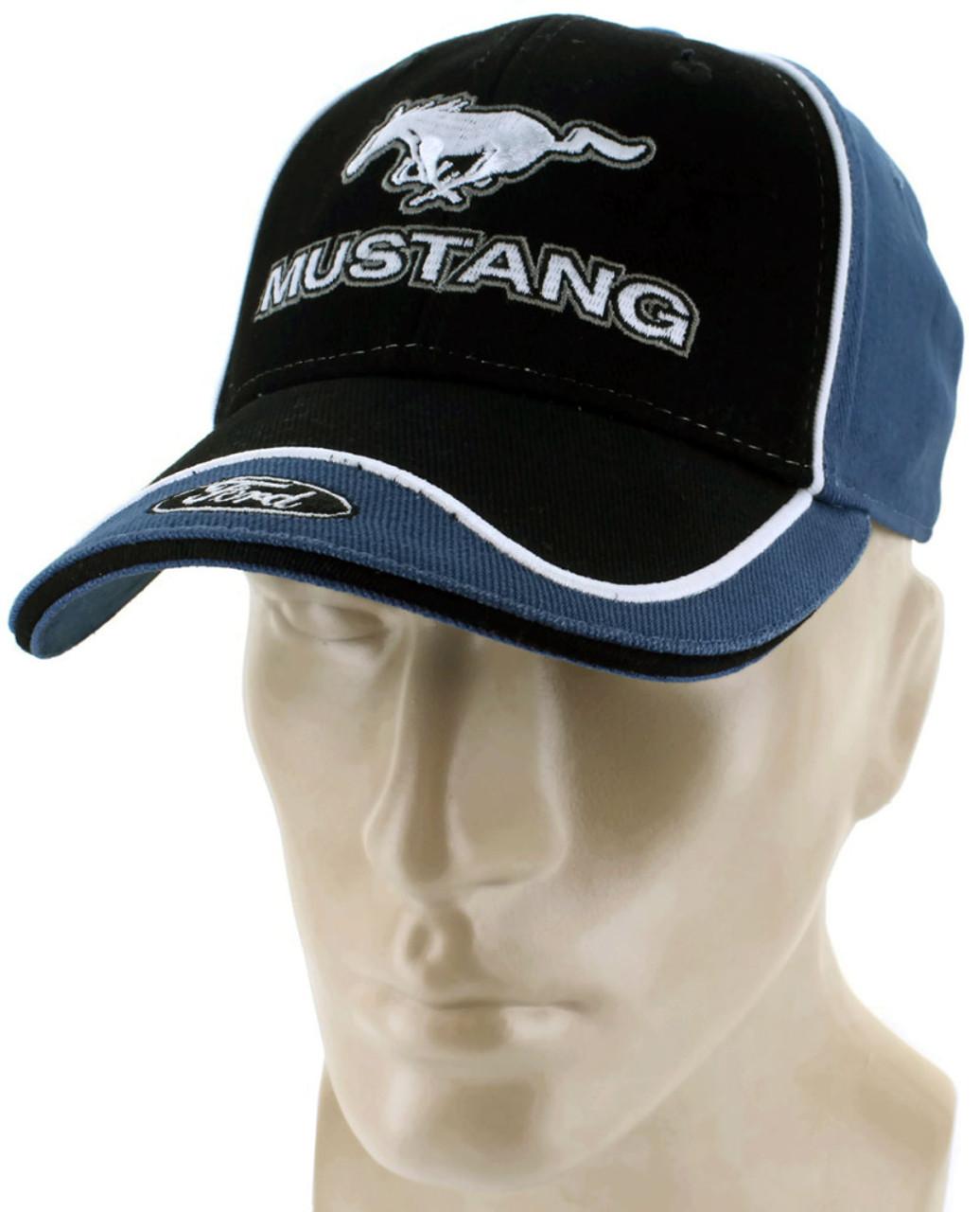 ba20c0a46 Ford Mustang Blue Baseball Cap Trucker Hat Snapback 5.0 Liter GT Cobra