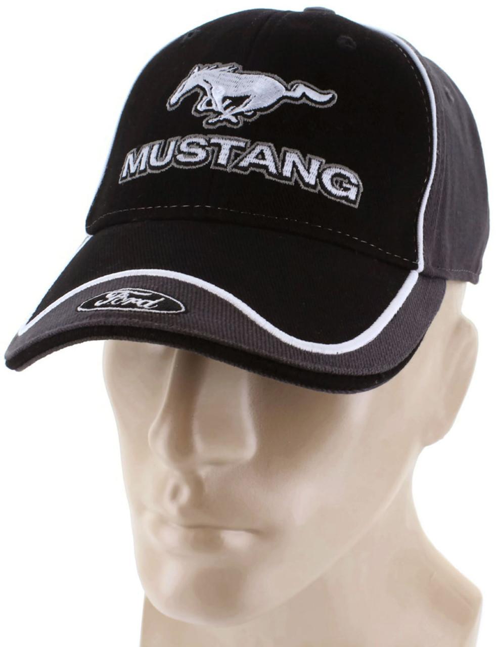 824fbd021 Ford Mustang Gray Baseball Cap Trucker Hat Snapback 5.0 Liter GT Cobra
