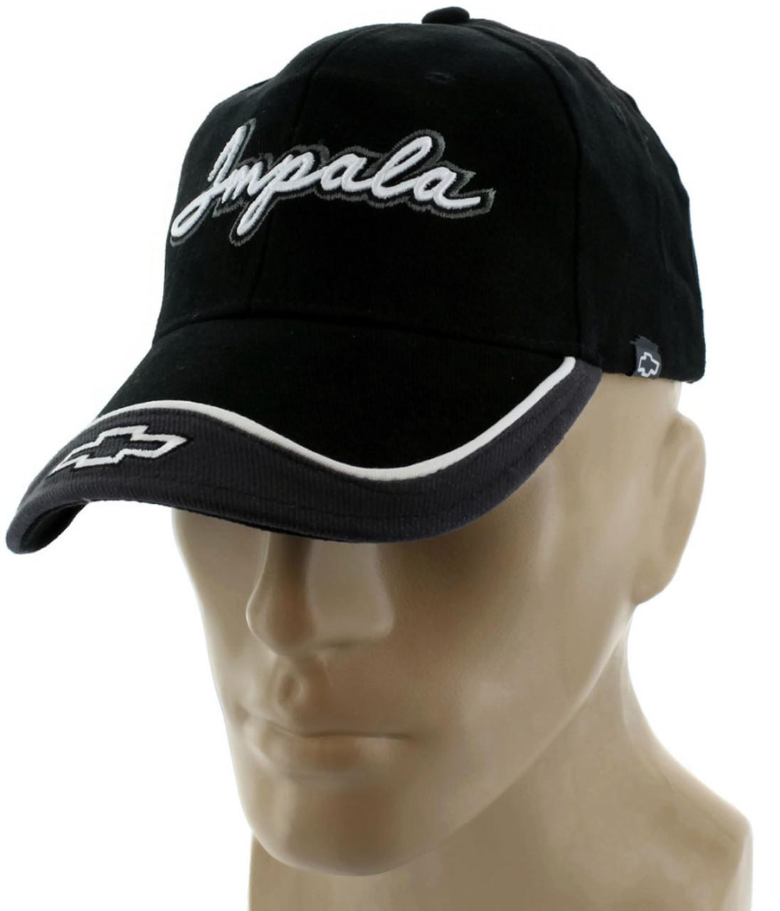 Chevy Chevrolet Impala Gray Baseball Cap Trucker Hat Snapback Logo ... f819401ecdd