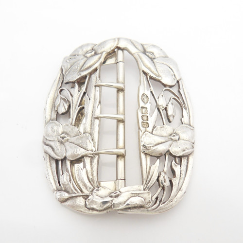 Stunning  Silver Buckle exuding Art Nouveau style hallmarked London 1900 by William Comyns