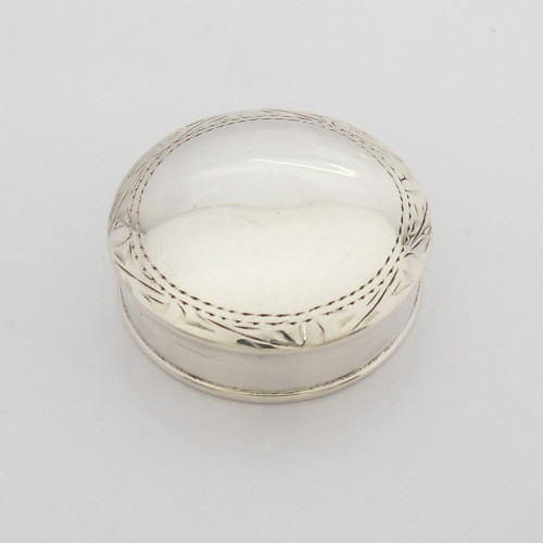 Vintage silver Pill Pot with Sheffield import hallmarks 1993 CLE