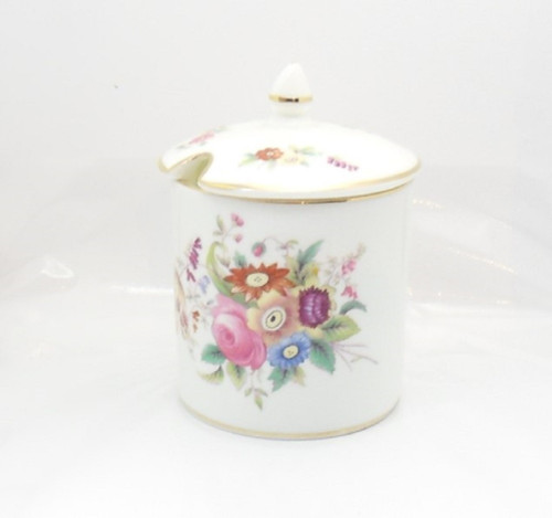Very Pretty Coalport 'Junetime' bone china preserve pot