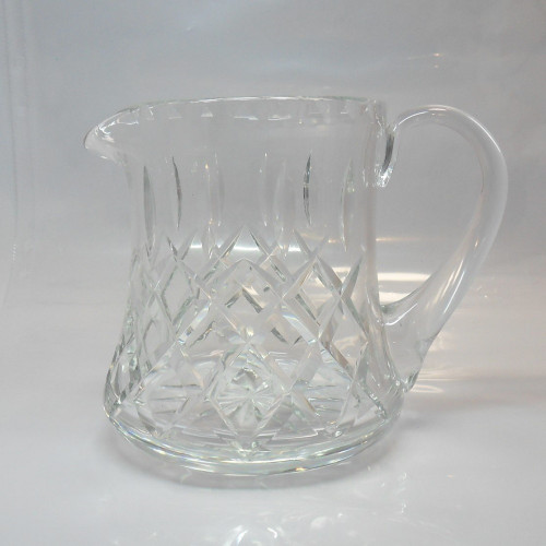 Large heavy weight Royal Brierley  Crystal Cut Glass Jug