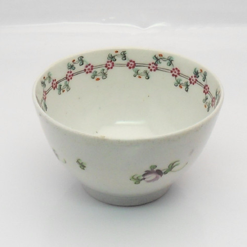 18th Century Newhall Tea Bowl flower pattern c1790