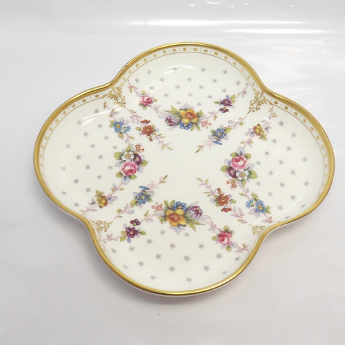 Pretty Royal Crown Derby quatrefoil dish