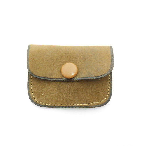 Lovely leather vintage  Jeweller's Ring Pouch for wedding rings 'Good luck to you both'