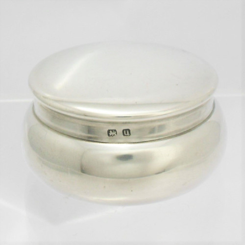 Silver Pill Pot with gilt interior hallmarked Birmingham 1919 by  Lionel Smith & Co
