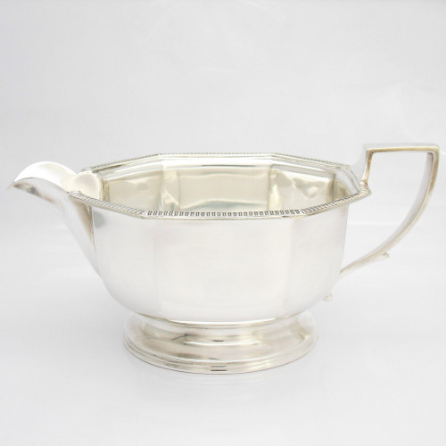 Stylish art deco silver Sauce Boat hallmarked Birmingham 1941 by  Goldsmiths & Silversmiths Co Ltd