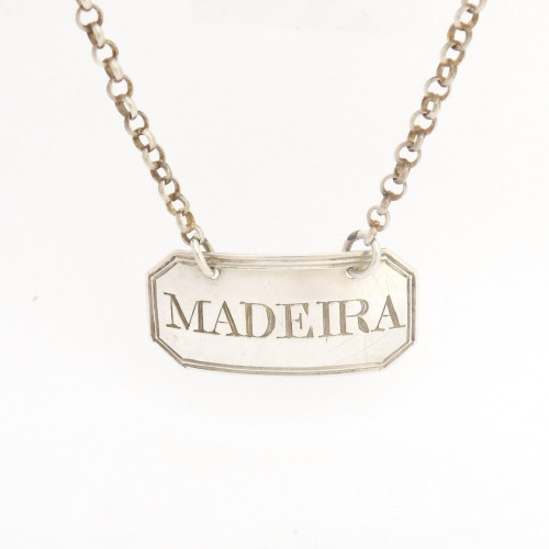 Early silver Madeira Wine Decanter  Label by Thomas Phipps & Edward Robinson hallmarked  London 1799