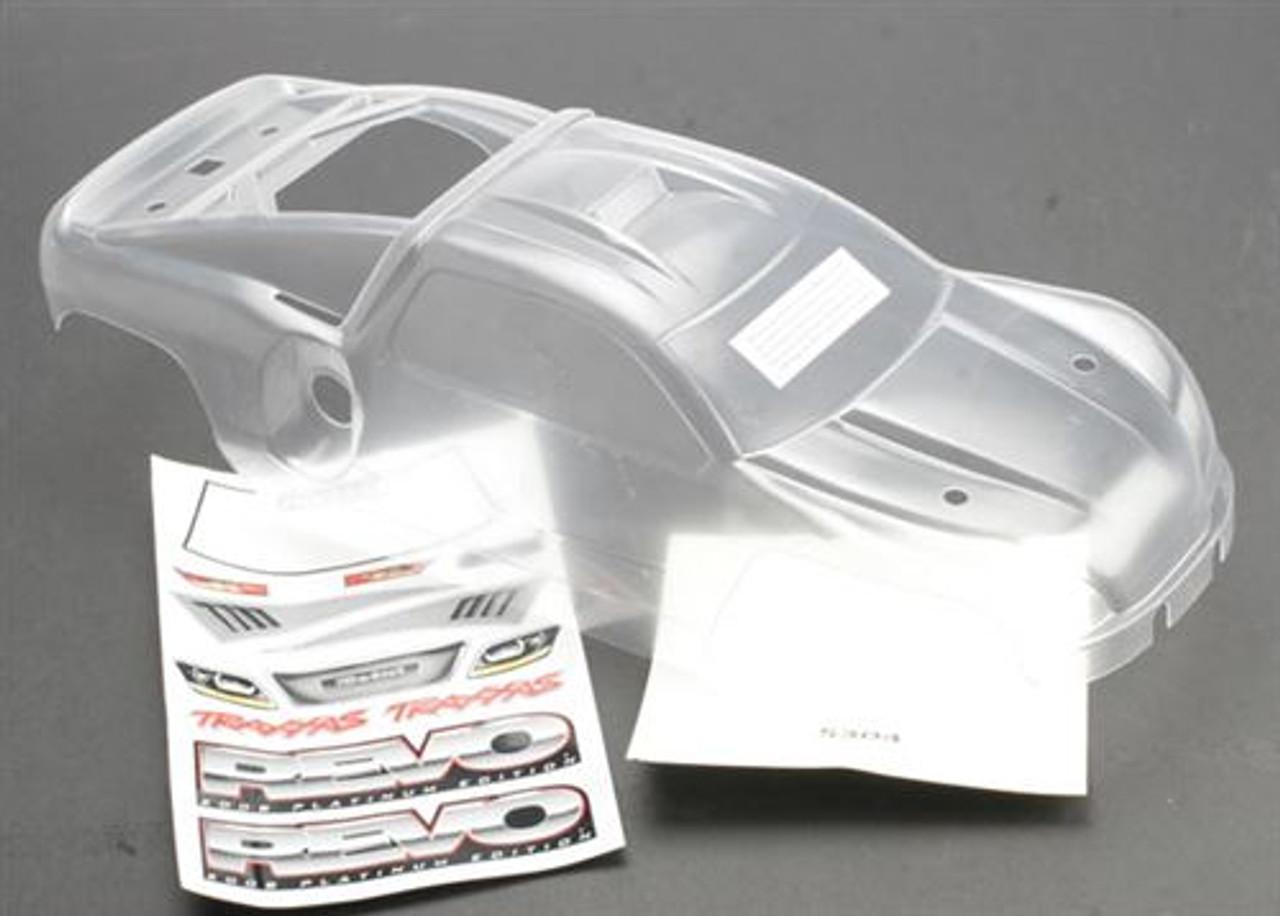 Includes Decals TRA5412 Traxxas Revo Wing White