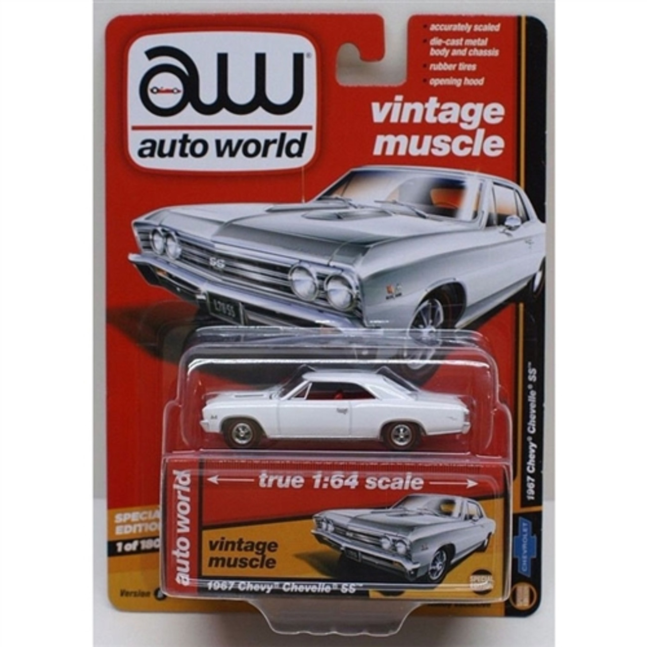 Details about  /Autoworld Vintage Muscle White 1967 Chevy Chevelle SS 1//64 Diecast Model