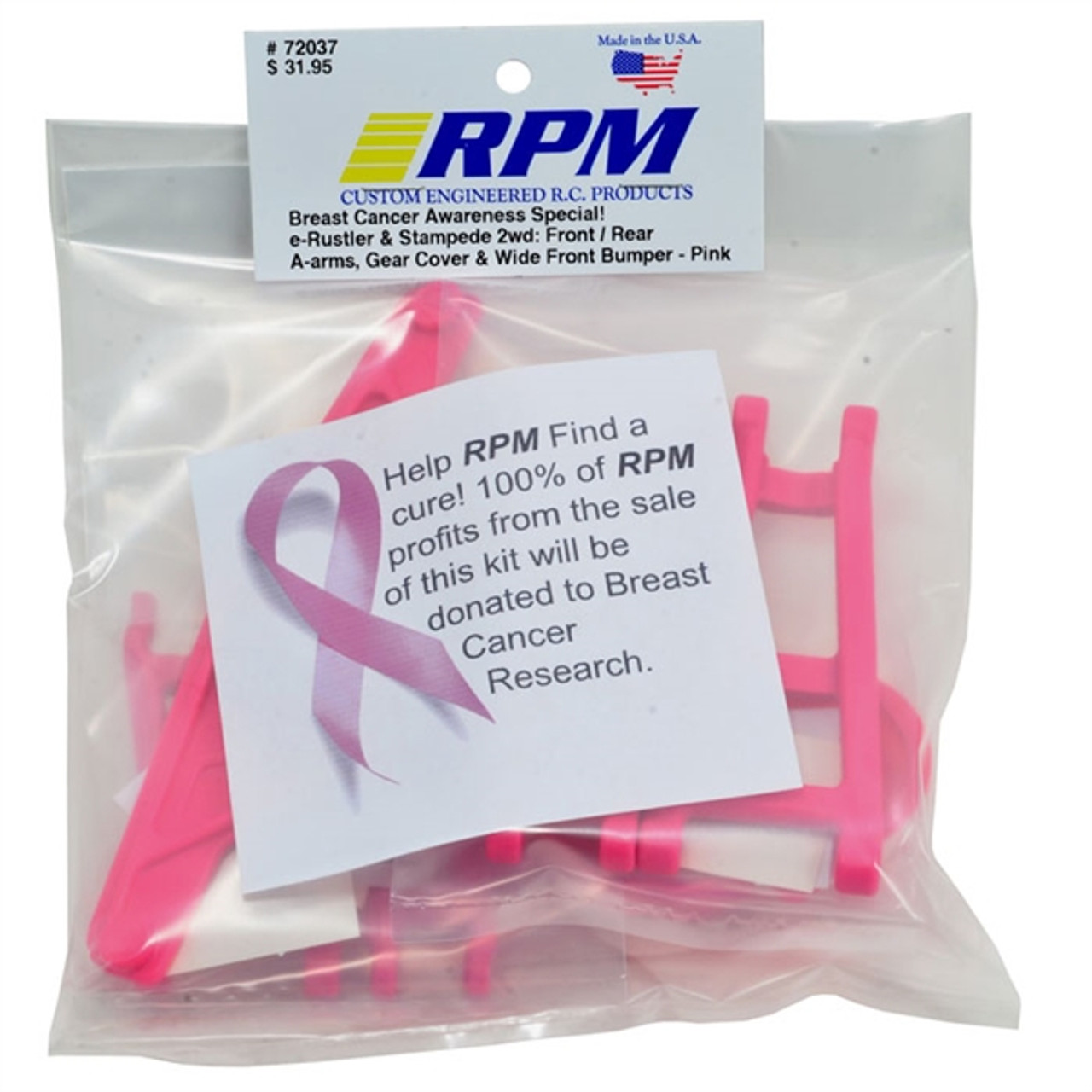 RPM80187  Pink Rear A-Arms Electric Rustler and Stampede