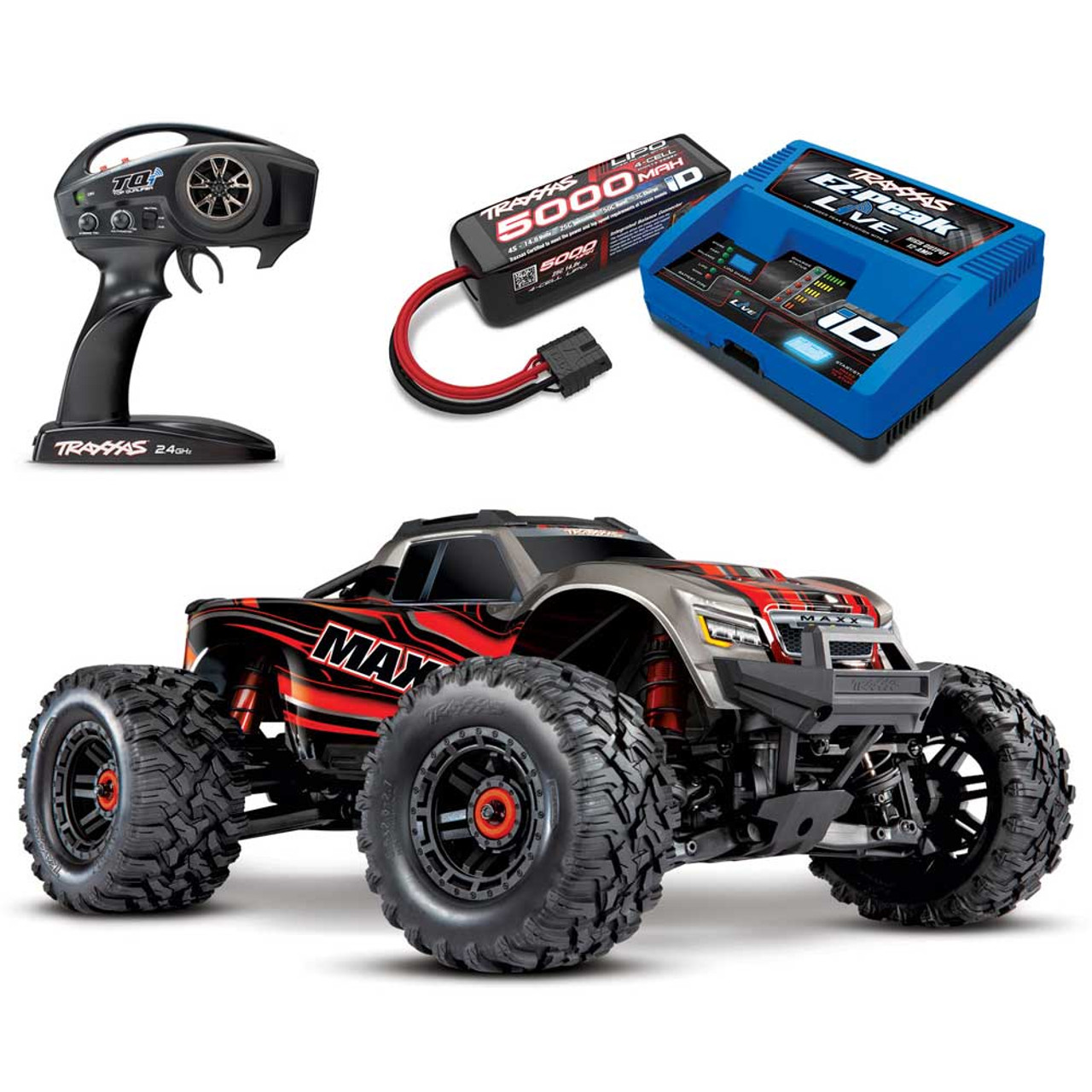 Traxxas Maxx 4s Rtr 4x4 Rc Monster Truck With 4s Lipo Battery Charger Combo Package Rc Off Road Monster Truck