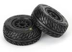 Pro-Line Street Fighter Tires & Renegade Wheels (Black): Slash 4x4