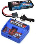 Traxxas EZ-Peak Plus LiPo Charger & 5800mAh 7.4V iD Battery Combo for RUSTLER