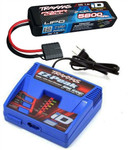 Traxxas EZ-Peak Plus LiPo Charger & 5800mAh 7.4V iD Battery STAMPEDE 2WD & 4X4 COMBO!!