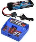 Traxxas EZ-Peak Plus LiPo Charger & 7600mAh 7.4V iD Battery Combo SLASH 2WD 4X4