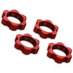 Traxxas X-Maxx Red Aluminum 17mm Splined Wheel Nuts (4)