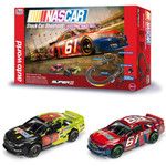 Auto World 10' Nascar Shootout HO Slot Car Track Race Set