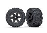Traxxas Rustler 2WD Rear Talon EXT Tires Mounted on Black 2.8 Wheels (2)