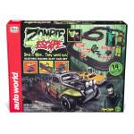 Auto World 14' Zombie Escape HO Slot Car Race Set