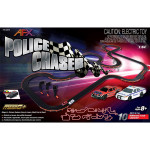 AFX Police Chaser 30-Foot Mega G+ HO Slot Car Set