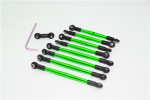 GPM Complete Green Aluminum Tie Rod & Pushrod Set for 1/16 E-Revo & Summit