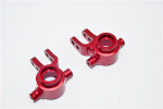 GPM Red Aluminum Front Steering Blocks for 4x4 Slash Rustler Stampede Rally