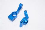 GPM Blue Aluminum Rear Stub Axle Carrier for 4x4 Slash Rustler Stampede Rally
