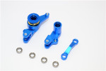 GPM Blue Aluminum Steering Bellcrank & Servo Saver for 4x4 Slash Rustler Stampede Rally