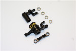 GPM Black Aluminum Steering Bellcrank & Servo Saver for 4x4 Slash Rustler Stampede Rally