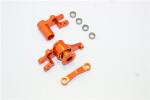 GPM Orange Aluminum Steering Bellcrank & Servo Saver for 4x4 Slash Rustler Stampede Rally