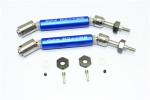 GPM Blue Stainless Steel & Aluminum Rear CVD Driveshaft Set w/Hex for 4x4 Slash Rustler Stampede Rally & 2WD Slash