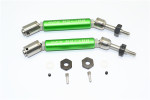 GPM Green Stainless Steel & Aluminum Rear CVD Driveshaft Set w/Hex for 4x4 Slash Rustler Stampede Rally & 2WD Slash