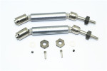 GPM Gunmetal Stainless Steel & Aluminum Rear CVD Driveshaft Set w/Hex for 4x4 Slash Rustler Stampede Rally & 2WD Slash